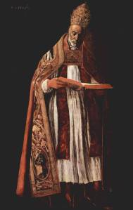 """Saint Gregory I, """"Gregory The Great"""" pope from 590 to 604. Image from historymedren.about.com"""